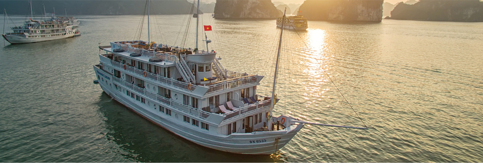 Halong private charter cruise