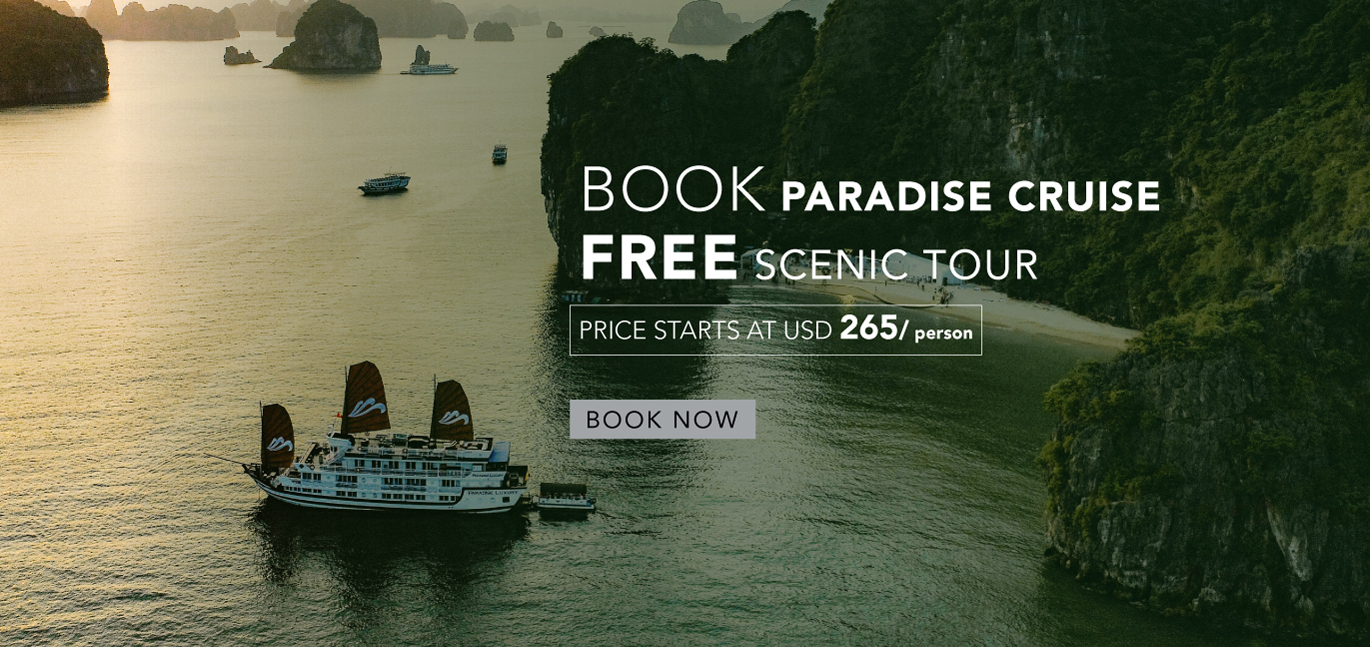 Book Paradise Cruise - Free Scenic Tour - Halong Bay