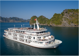 Steel boat for Halong Bay charter cruise