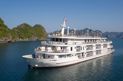A trendy vessel in Halong Bay