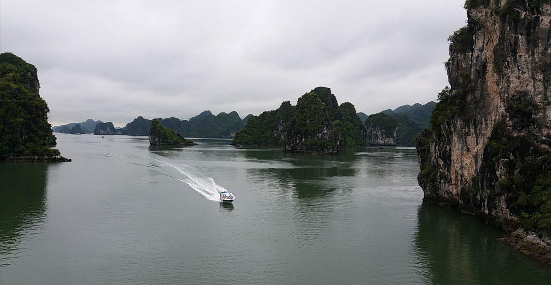 Halong Bay in the winter