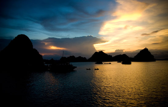 Mythological Halong at sundown